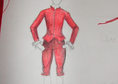 Maquette costume, Chérubin